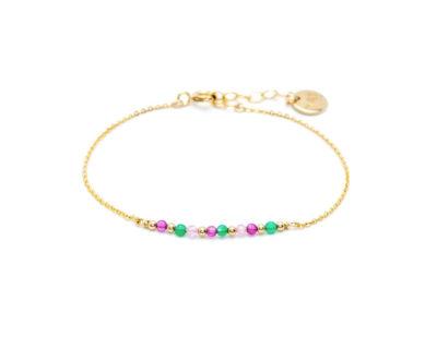 Bracelet Chaînette perles multicolores