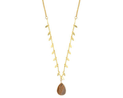 collier elvire camel