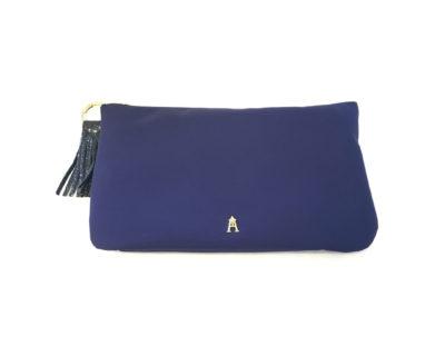 pochette nylon bleu craie