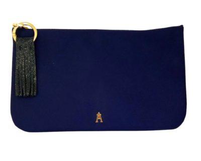 pochette nylon bleue