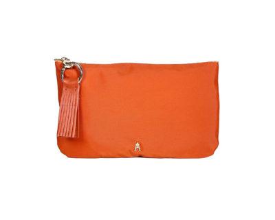 pochette nylon orange craie