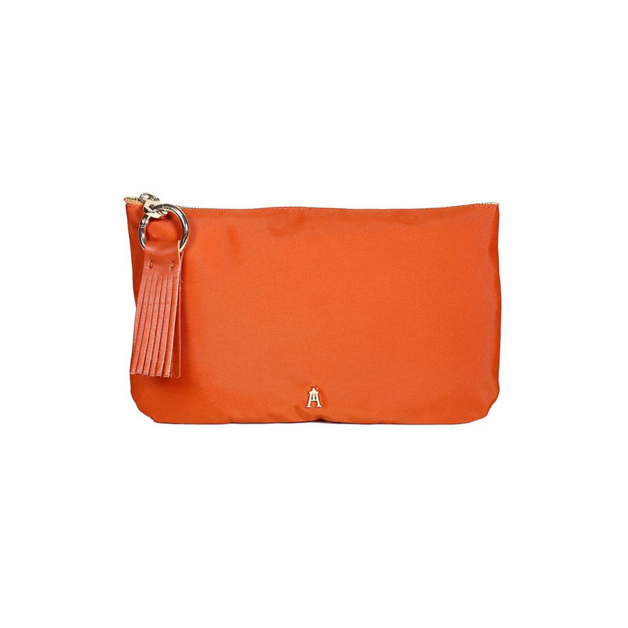pochette nylon orange craie
