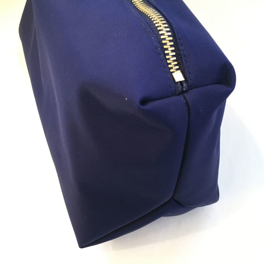 trousse nylon bleu