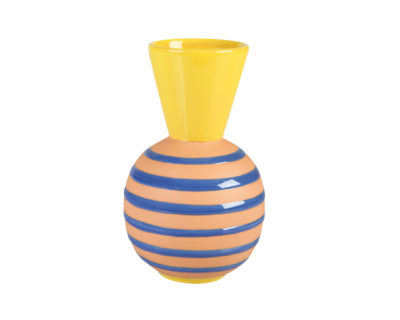vase terracotta stripes