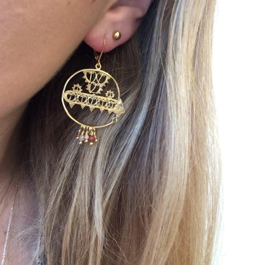 boucles d'oreilles jasmine dentelle