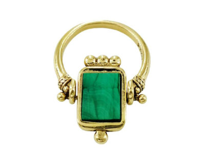 Bague Carte Malachite