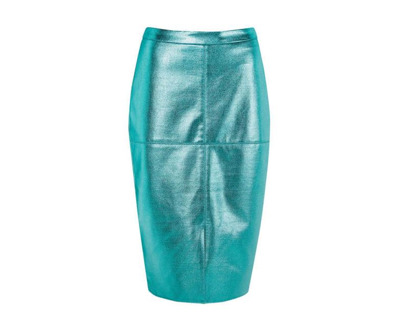 jupe rique cks bleu vinyle