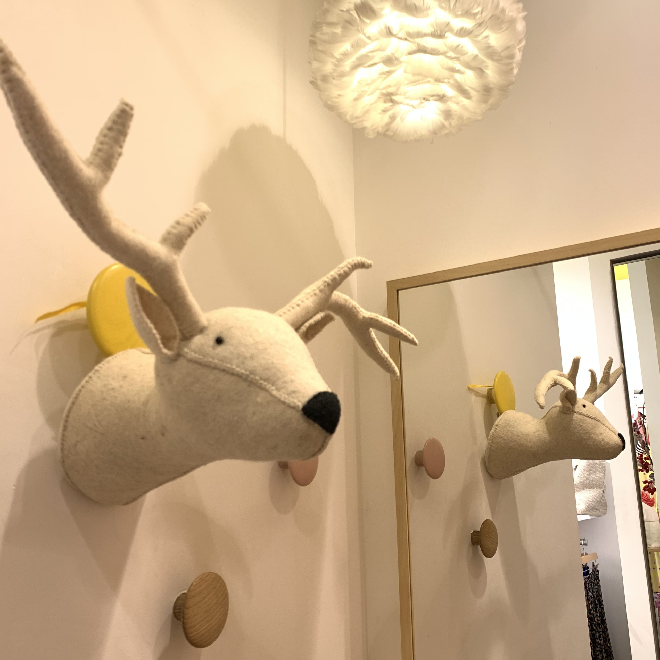 trophée renne blanc