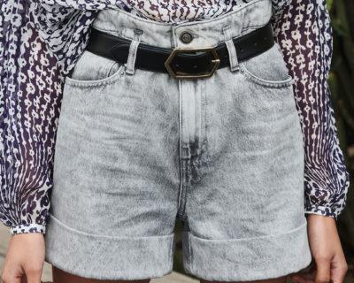 short scarlett denim grey
