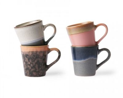 Set de 4 tasses expresso 70's
