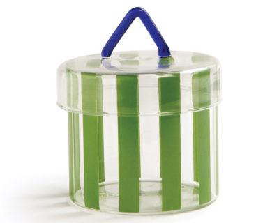 Boite en verre circus verte