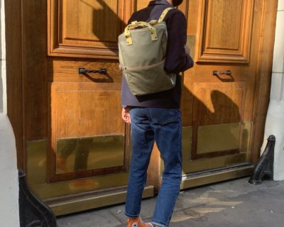 Backpack kaki jaune