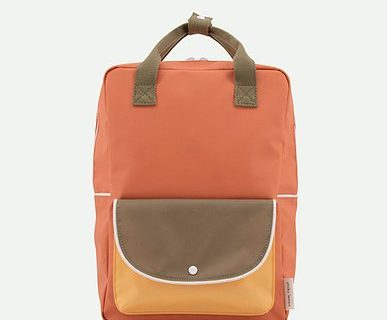 Backpack orange/kaki