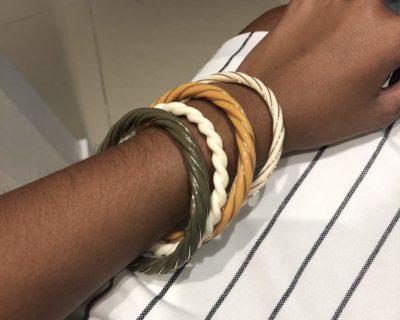 Bracelet torsade blanc uni