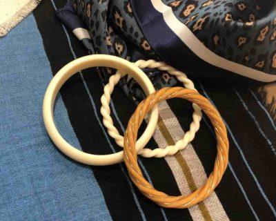 Bracelet torsade safran