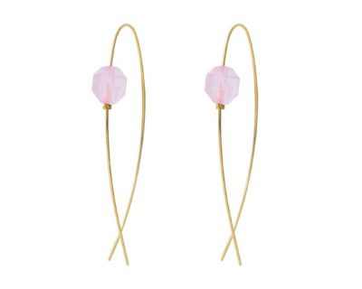 boucles d'oreilles glam quartz rose by zia