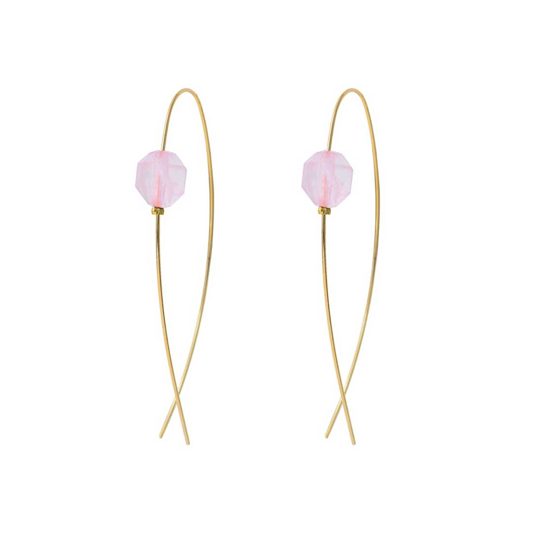 boucles d'oreilles glam quartz rose by zia