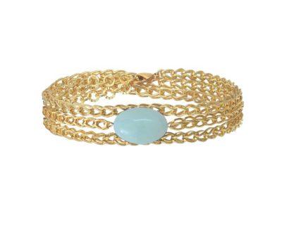 bracelet chaîne gloss amazonite by zia