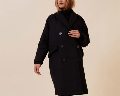 manteau bertille noir idano