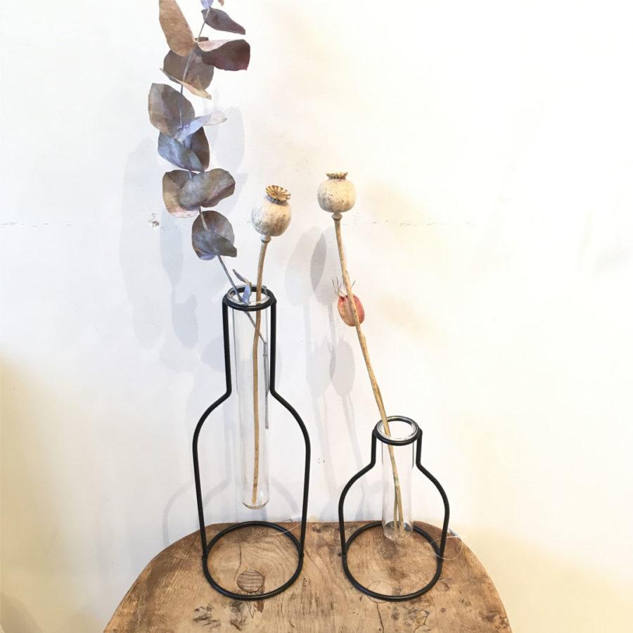 set de 2 vases soliflore