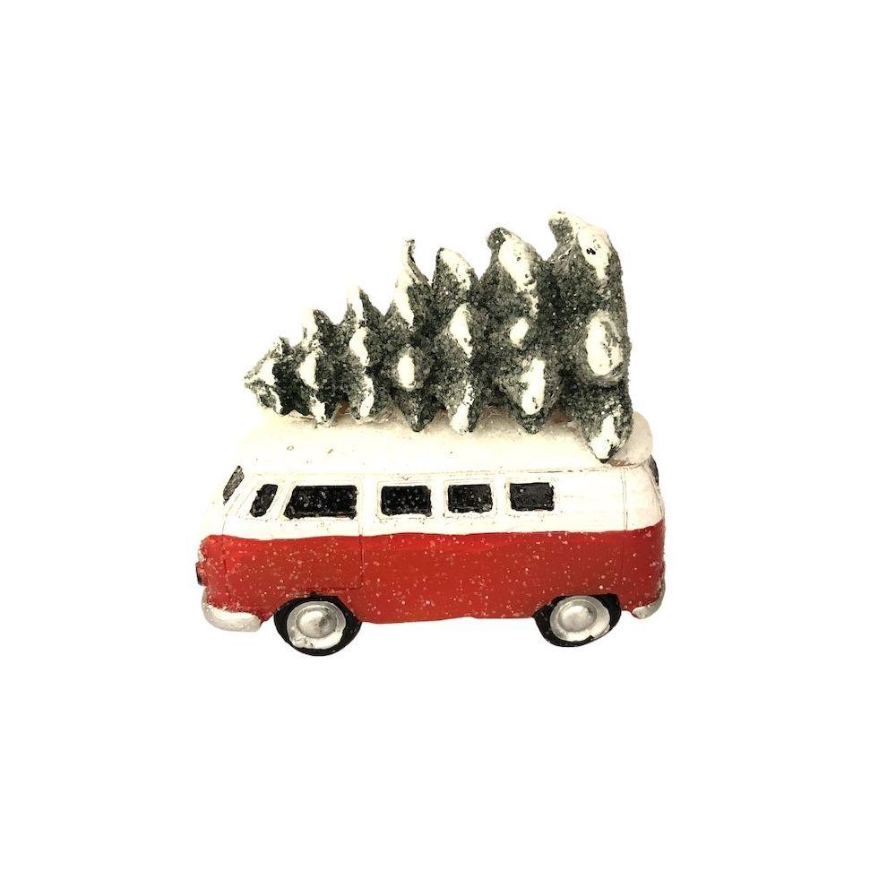 bougie minibus sapin de noel