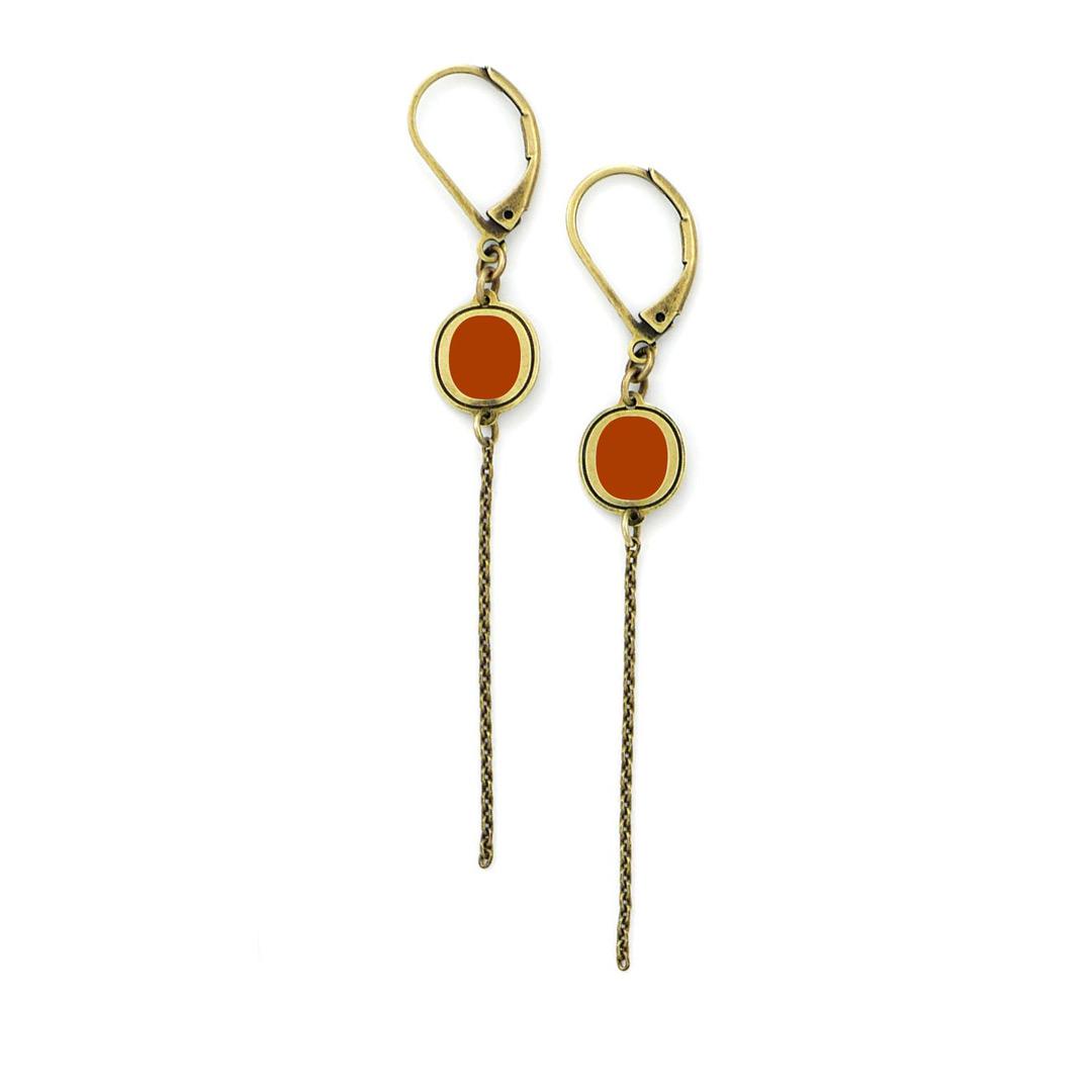 boucles d'oreilles pm orange