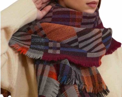 Foulard anthlogie bordeaux