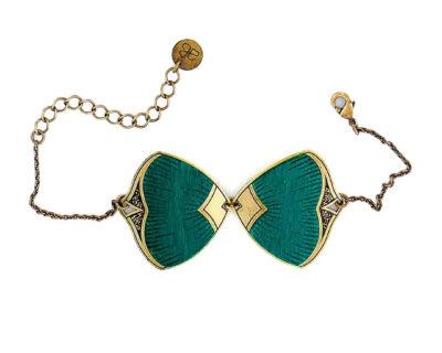 bracelet pive bleu canard amélie blaise