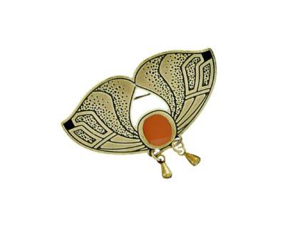 broche sphinx orange
