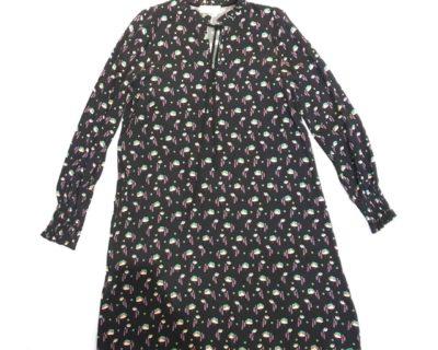 robe fleurie noir ootd