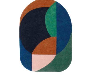 tapis coquillage bleu