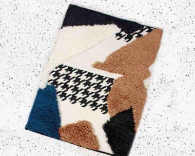 petit tapis toison brun