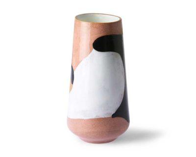 vase en céramique tricolore hkliving