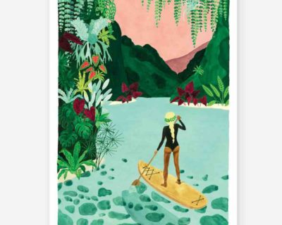 affiche paddle girl