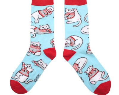 Chaussettes chat pull d'hiver