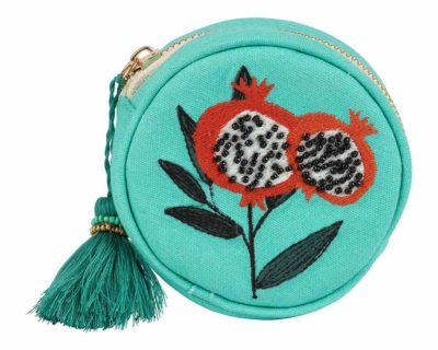 Pochette ronde peps pop turquoise