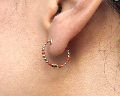 Boucles d'oreilles noémie plaqué or