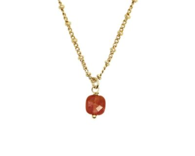 Collier Ava agathe rouge