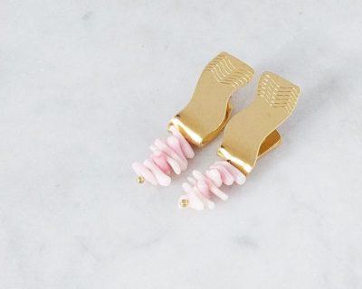 Boucles Arielle roses