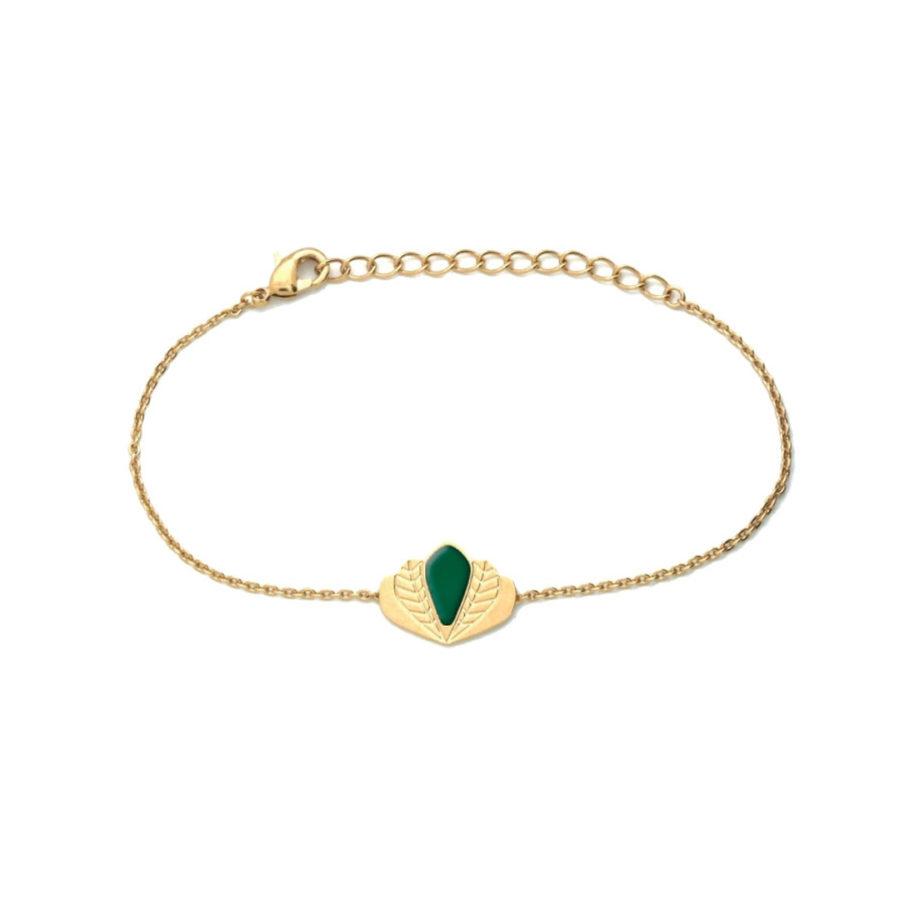 Bracelet-Chloé-vert-émeraude
