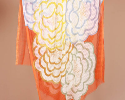 Foulard Camélia orange