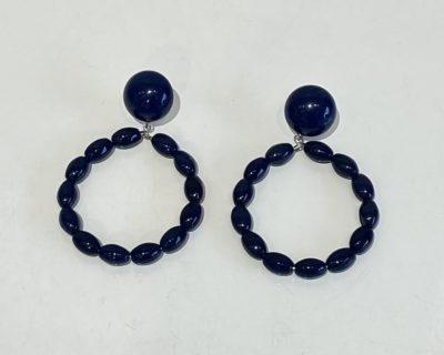boucles perles bleues
