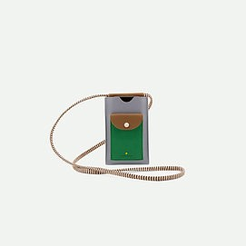 pochette téléphone bleue/verte XL