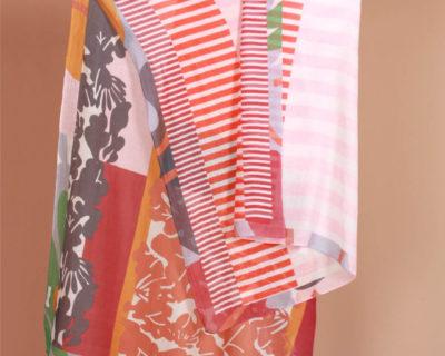 foulard garden rouge