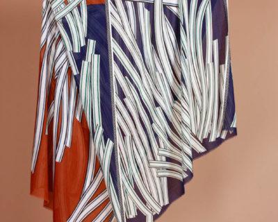 foulard hautes herbes brun