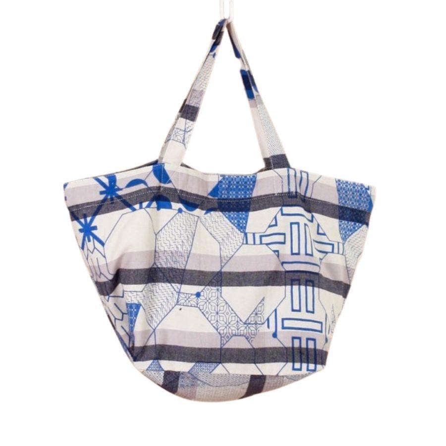sac souple miroir bleu