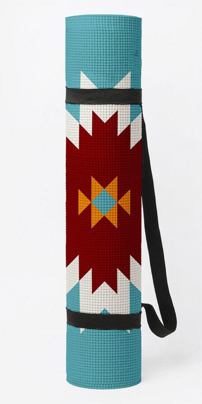 tapis de yoga navajo