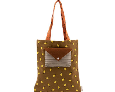 tote bag velours marron