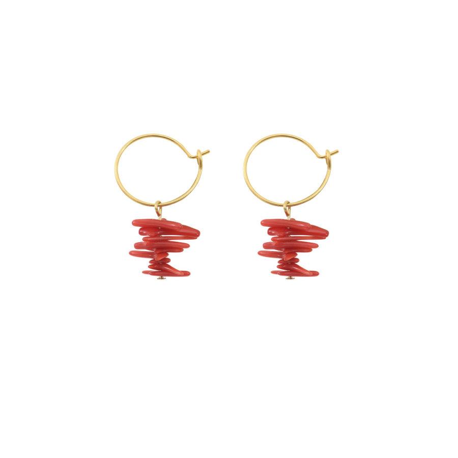 Créoles Filippa rouge