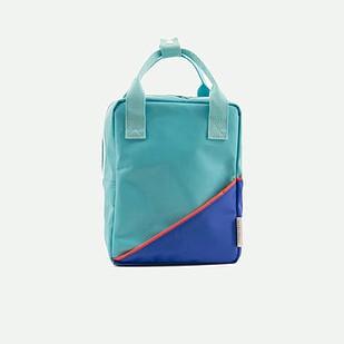 sac à dos diagonal bleu/menthe